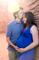 roadtrip ancient ruins maternity shoot